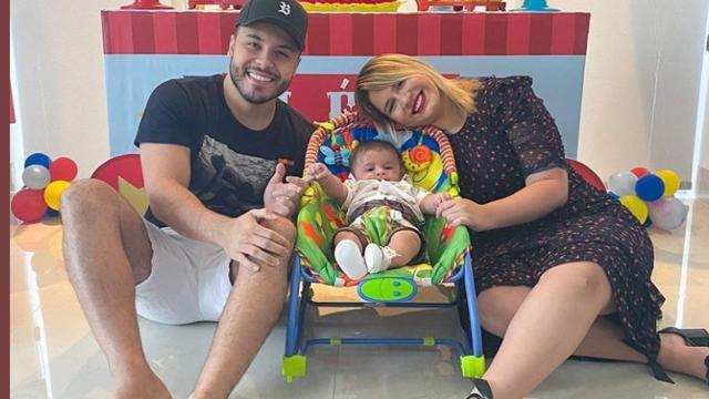 Marília Mendonça posta fotos em comemoração dos 4 meses de seu filho Léo,