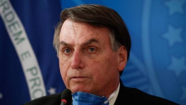 Bolsonaro faz discurso em manifestação