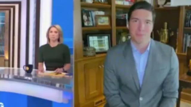 Will Reeve si collega al programma Good Morning America senza pantaloni