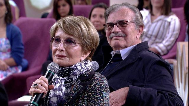 Glória Menezes se declara para Tarcísio Meira: 'eterno namorado'
