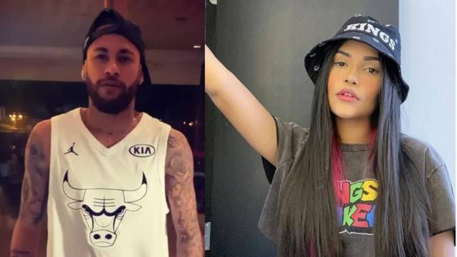Ex-BBB Flayslane afirma ter 'ficado' com Neymar e o jogador comenta: 'rir pra não chorar'