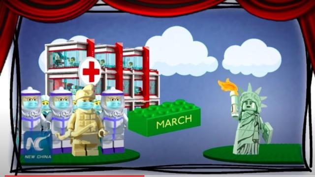 China se burla de cómo afronta EEUU el coronavirus con un vídeo de piezas de Lego