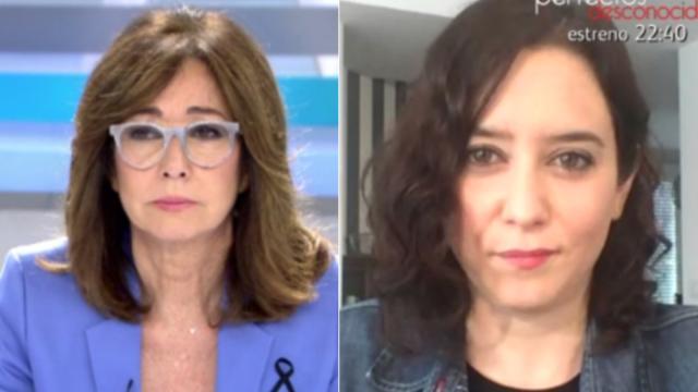 Isabel Díaz Ayuso se defiende con Ana Rosa Quintana ante las imágenes de IFEMA