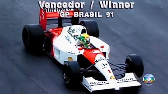Primeira vitória de Senna no Brasil será reprisada neste domingo