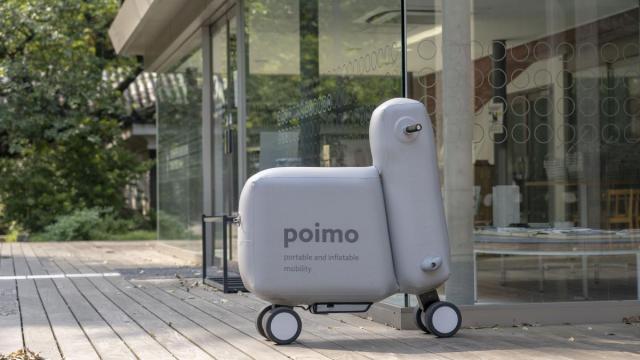 Giappone: l'università di Tokyo progetta Poimo, l'e-bike gonfiabile
