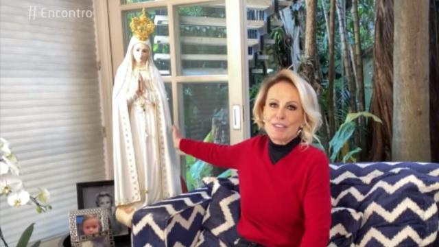 Ana Maria Braga faz agradecimento a Nossa Senhora de Fátima