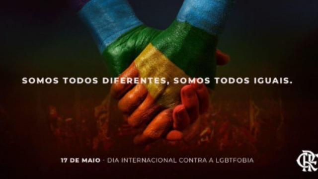 5 clubes brasileiros que se manifestaram no Dia Internacional contra a LGBTfobia