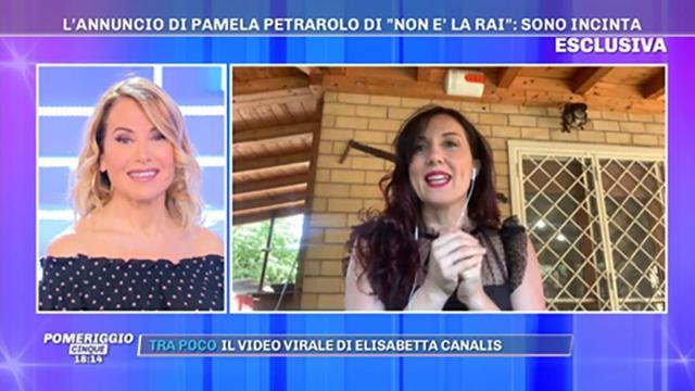 Pamela Petrarolo annuncia a Pomeriggio 5 di essere in attesa del terzo figlio