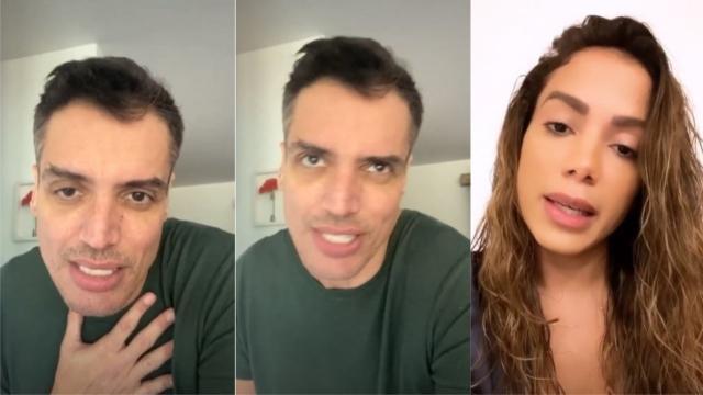Leo Dias rebate Anitta e explica ataques contra Bruna Marquezine: 'pressão de Anitta'