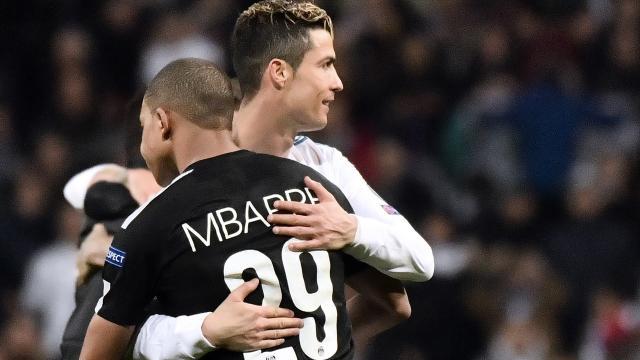 PSG : Kylian Mbappé fait l'éloge de Ronaldo et le décrit comme 'gagnant'