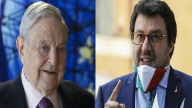Matteo Salvini attacca Soros: 'Affossò l'Italia, essere suo avversario è un onore'