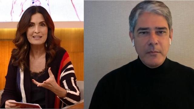 Fátima Bernardes elogia ex-marido William Bonner ao vivo na Globo