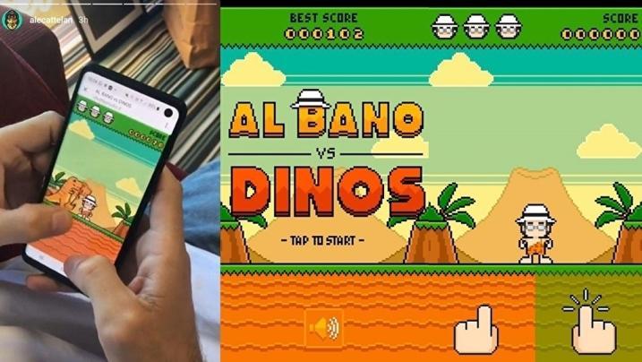 Al Bano vs Dinos, il cantante sconfigge i dinosauri in un videogame
