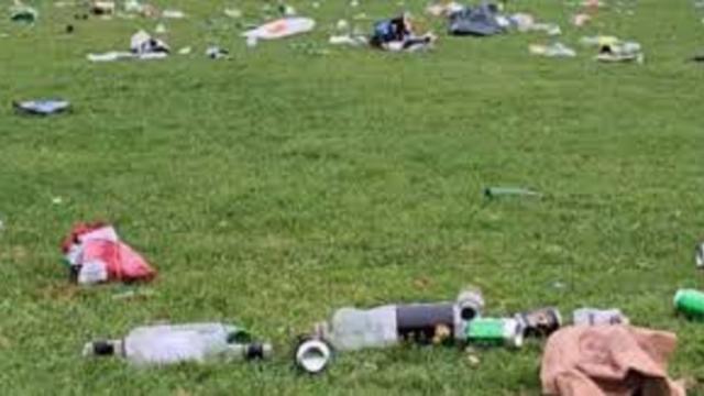 Les photos des parcs des grandes villes remplies de détritus ont choqué la toile