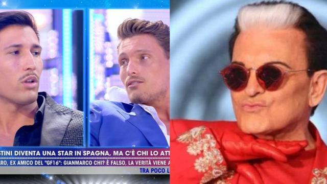 Live - Non è la D'Urso: scontro Gennaro Lillio-Onestini, Malgioglio cade dalla sedia