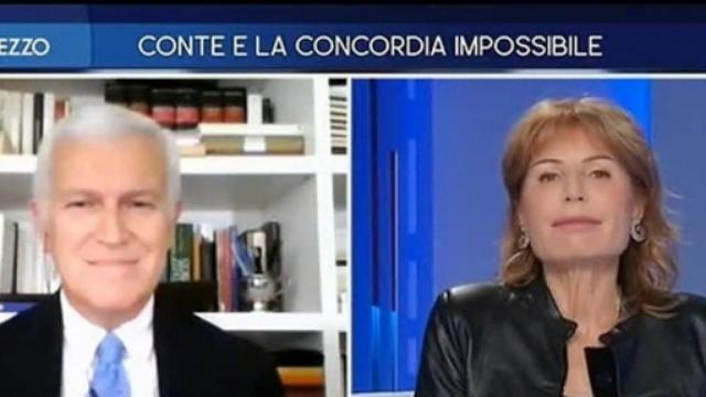 Otto e mezzo, dibattito su Conte: Belpietro lo attacca, Gruber critica Salvini