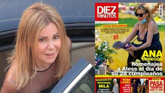 Critican a la revista Diez Minutos por anunciar fotos de Ana Obregón en el cementerio