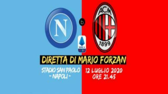 Napoli-Milan, resoconto del match: espulso Saelemaekers e due gol per tempo per ciascuna