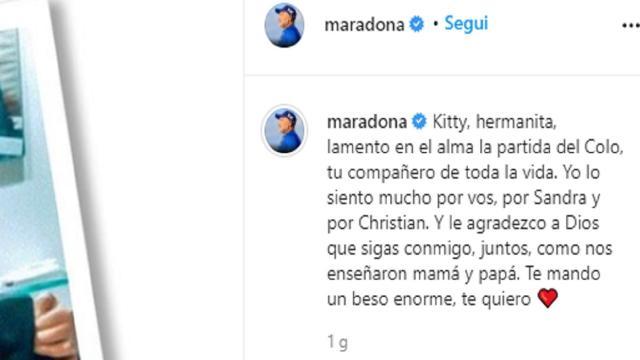 Coronavirus, Maradona in lutto: il cognato Raul è deceduto