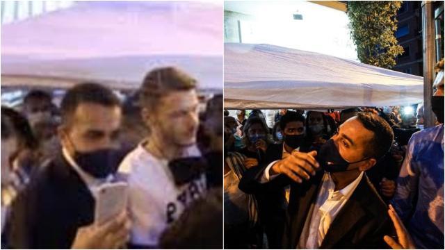 Secchiata d'acqua per Di Maio, lui commenta: 'sarà un sostenitore del 'no' al referendum