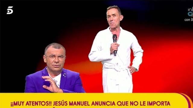 Jesús Manuel opta por desnudarse en 'Sálvame' para que no emitan una foto suya