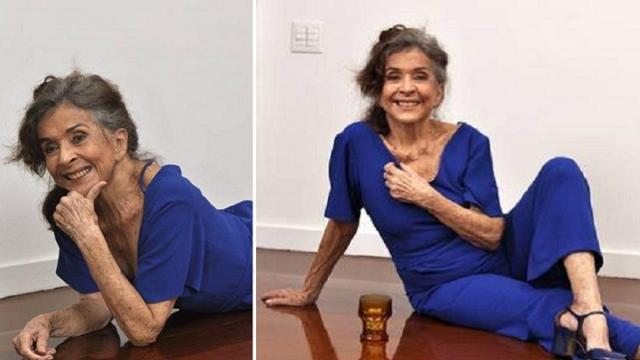 Betty Faria, aos 79 anos, afirma receber cantadas na internet