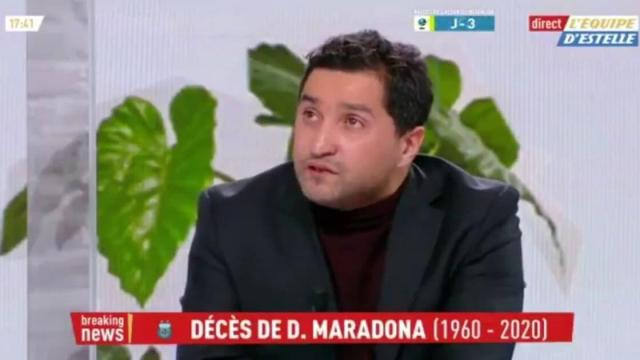 Nabil Djellit rend hommage à Maradona, il a les larmes aux yeux en direct