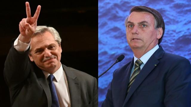 Bolsonaro busca aproximação com Alberto Fernández, presidente da Argentina