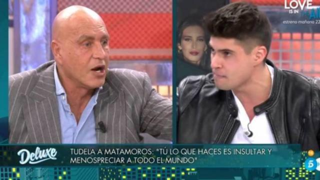 Kiko Matamoros se lanzó a gritar e insultar a su ex hijastro Javier Tudela