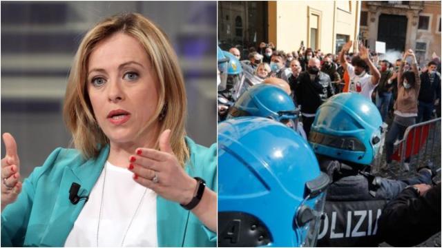 Roma, ristoratori in piazza, Meloni: 'Lo Stato non ascolta i protestanti'