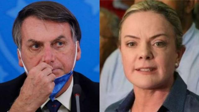 'Encostado na vida', dispara Gleisi Hoffmann sobre Bolsonaro