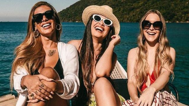 Juliette, Carla Diaz e Pocah se encontram pela 1ª vez após o 'BBB 21' e famosos comentam