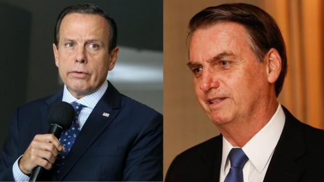 Bolsonaro dispara contra Bruno Covas, e João Doria rebate: 'desumanidade'