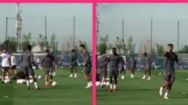 Le geste de Leandro Paredes sur Nuno Mendes qui ravit Lionel Messi