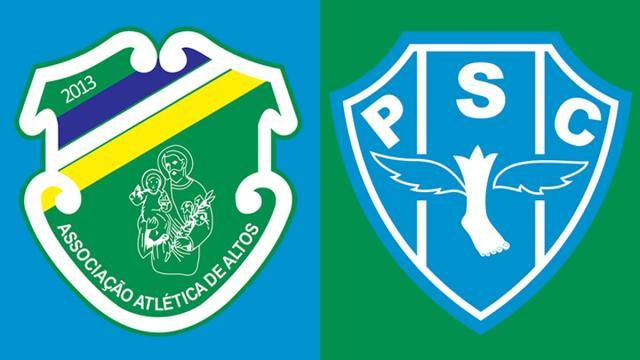 Informações pré-jogo para Altos x Paysandu pela Série C