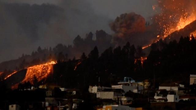 Así avanza la erupción del volcán de La Palma: no se prevé que llegue al mar