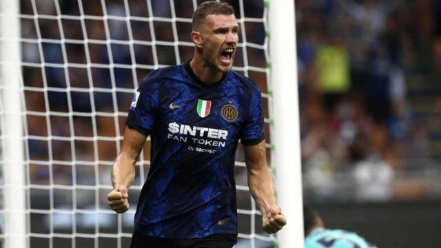 Serie A, l'Inter cala il tris contro la Fiorentina: in gol anche Dzeko