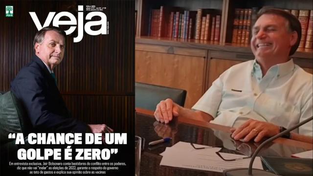 Em tentativa de limpar a imagem, Bolsonaro adota tom moderado em entrevista a revista