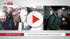A Milano la marcia dei sindaci italiani per Liliana Segre