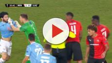 Rennes-Lazio: momento di tensione sull'1-0